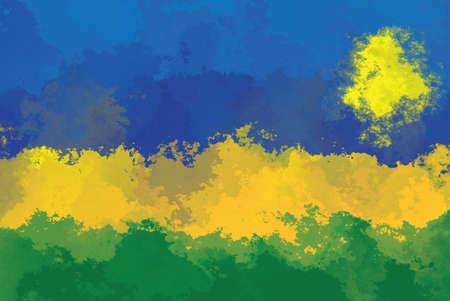 design pattern: Rwanda flag - grunge design pattern Stock Photo