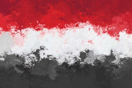 yemen: Yemen flag - grunge desing pattern