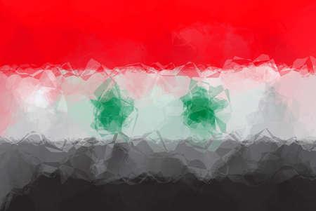 triangular: Syria flag - triangular polygonal pattern