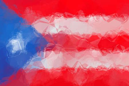 bandera de costa rica: Bandera de Costa Rica - patrón poligonal triangular