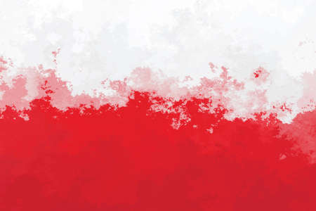Polish flag - grunge design pattern Stock Photo