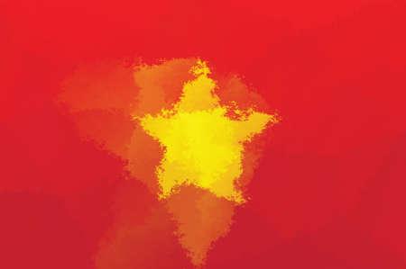 vietnam flag: Vietnam flag - grunge design pattern