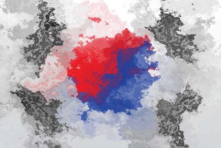korean national: South Korean flag - grunge design pattern