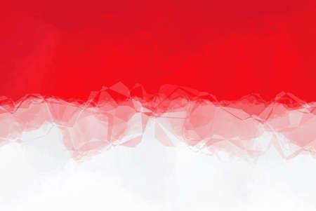 triangular flag: Monaco flag - triangular polygonal pattern