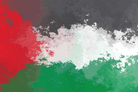 palestinian: Palestinian flag - grunge design pattern