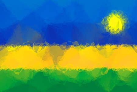 rwanda: Rwanda flag - triangular polygonal pattern