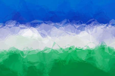 uzbekistan: Uzbekistan flag - triangular polygonal pattern