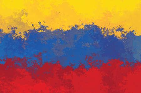 venezuela: Venezuela flag - grunge design pattern