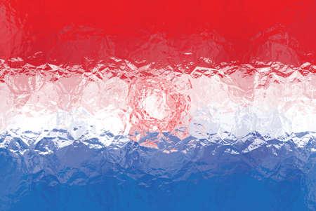 bandera de paraguay: bandera de Paraguay - modelo poligonal triangular de la superficie de metal brillante arrugado Foto de archivo