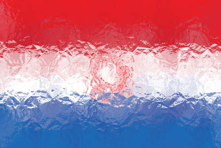 bandera paraguay: Paraguay flag - triangular polygonal pattern of crumpled shiny metal surface