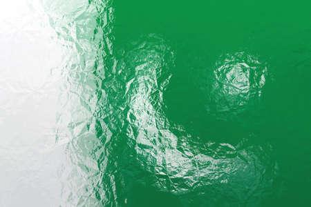 pakistani: Pakistani flag - triangular polygonal pattern of crumpled shiny metal surface Stock Photo