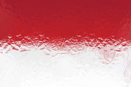 the indonesian flag: Indonesian flag - triangular polygonal pattern of crumpled shiny metal surface Stock Photo