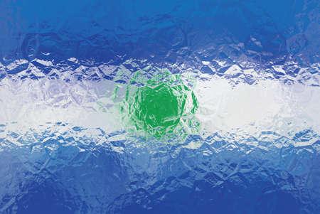 bandera de el salvador: Bandera de El Salvador - patrón poligonal triangular de la superficie de metal brillante arrugado