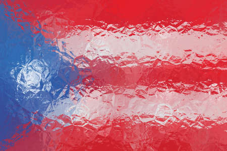 bandera de puerto rico: Bandera de Puerto Rico - vector patrón poligonal triangular
