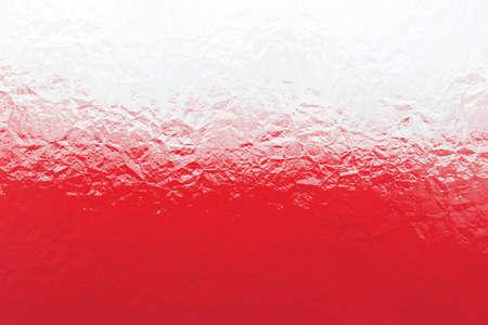 bandera de polonia: Polaco bandera - modelo poligonal triangular de la superficie de metal brillante arrugado
