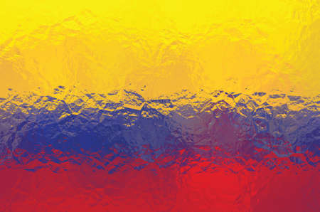 colombian: Colombian flag - triangular polygonal pattern of crumpled shiny metal surface Stock Photo