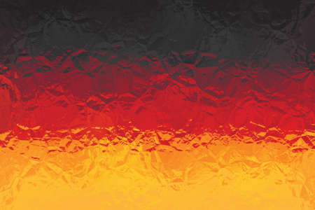 shiny metal: German flag - triangular polygonal pattern of crumpled shiny metal surface Stock Photo