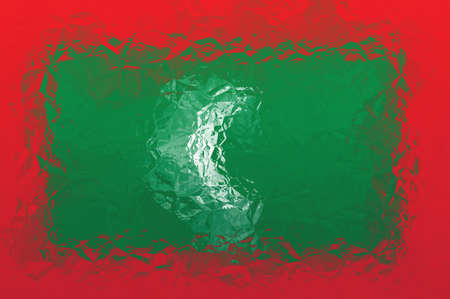 shiny metal: Maldives flag - triangular polygonal pattern of crumpled shiny metal surface