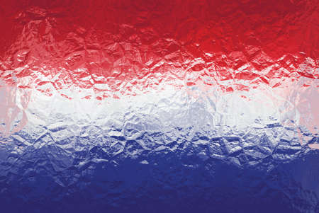 shiny metal: Luxembourg flag - triangular polygonal pattern of crumpled shiny metal surface