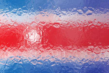bandera de costa rica: Bandera de Costa Rica - patr�n poligonal triangular de la superficie de metal brillante arrugado