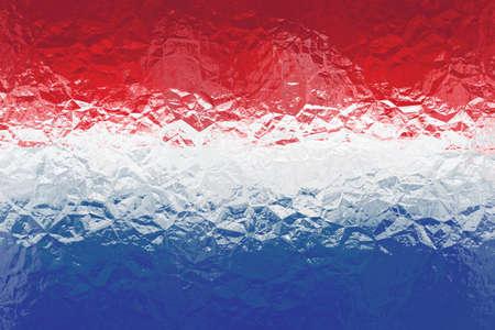 dutch: Dutch flag - triangular polygonal pattern of crumpled shiny metal surface