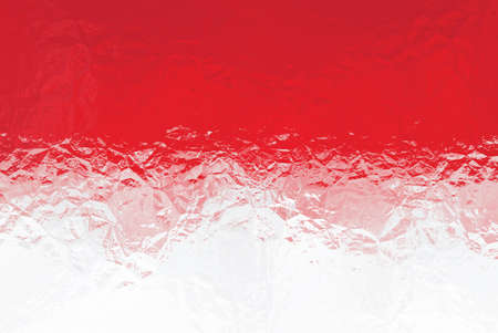 shiny metal: Monaco flag - triangular polygonal pattern of crumpled shiny metal surface