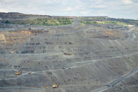 ore: General view of the iron ore opencast mining area