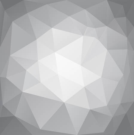 Abstract polygonal vector background in gray color