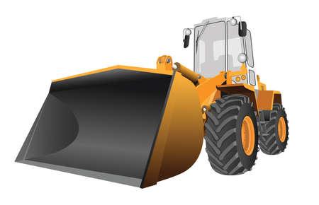 cargador frontal: imagen vectorial detallada de la cargadora frontal con gran bola