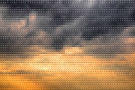 lookalike: Stormy sky on sunset lookalike plastic bricks background