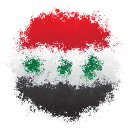 Color spray stylized flag of Iraq on white background