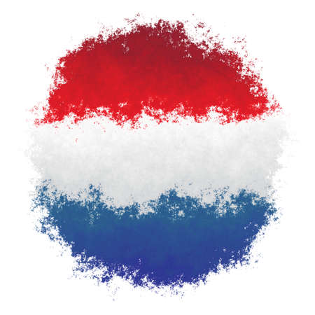 Color spray stylized flag of Netherlands on white background Stock Photo