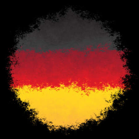 Color spray stylized flag of Germany on white background Stock Photo