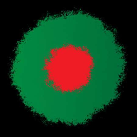 Color spray stylized flag of Bangladesh on black background Stock Photo