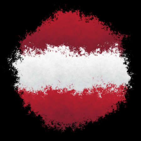 Color spray stylized flag of Latvia on black background Stock Photo