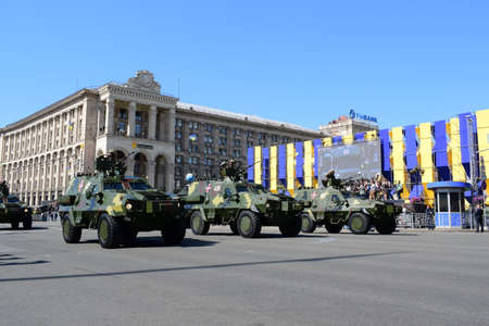 Kyiv, Ukraine - August 24, 2018: Military parade for the Independence Day of Ukraine