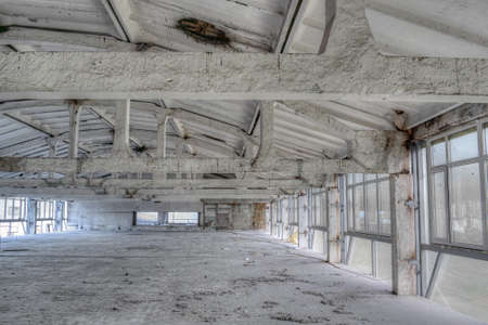 Abandoned industrial building during the reconstruction works interior