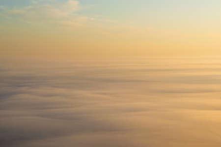 Heavy fog background on sunrise aerial view Stock fotó