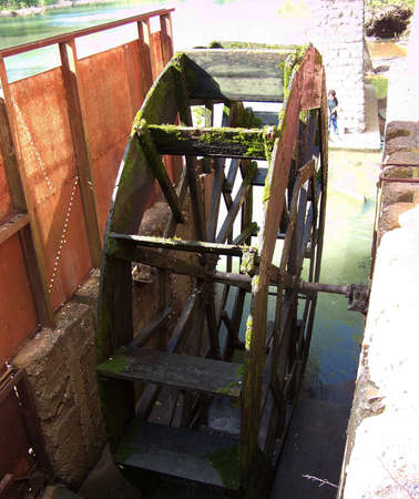 gristmill: waterwheel Stock Photo