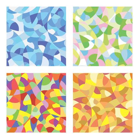 Modèle de mosaïque transparente de couleurs d'hiver, de printemps, d'été et d'automne Banque d'images - 80130423