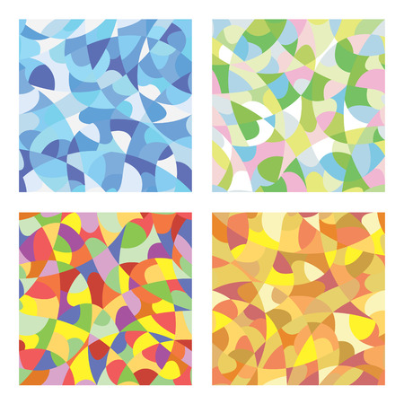 Seamless mosaic pattern of winter, spring, summer and autumn colors
