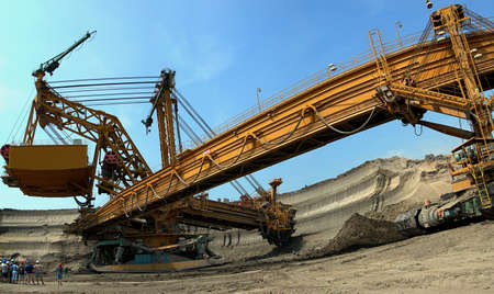 Heavy machine - brown coal digger is in action Stock Photo - 15625592