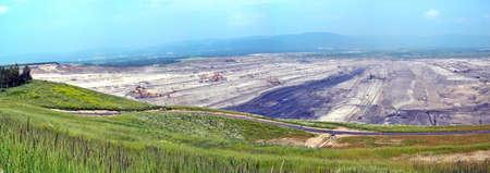 Bruinkoolmijn in de noordelijke Tsjechië Stockfoto