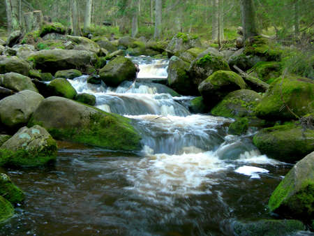 Wild mountain brook with stones and long exposure Stock Photo - 15630208