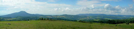 Landscape of a czech county - rural farms with hiils, pastures and fields Stock Photo - 15633074