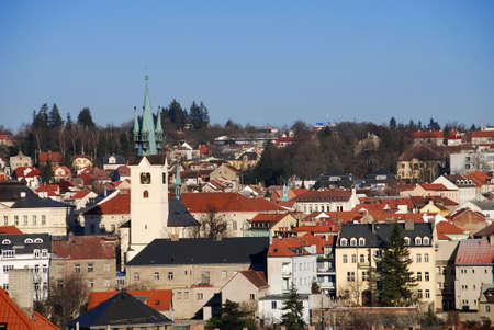 View at the Czech city of Pribram in the Southern Bohemia photo