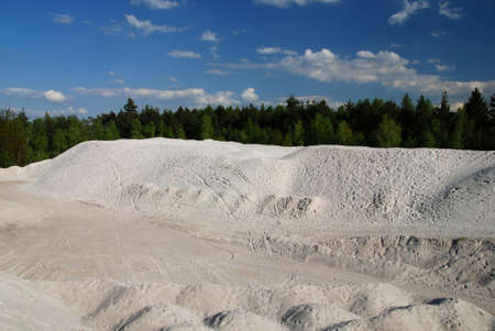 sand quarry: Artificial sand dunes made by building new highway