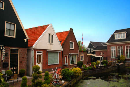 volendam: Traditional houses in a Dutch town Volendam