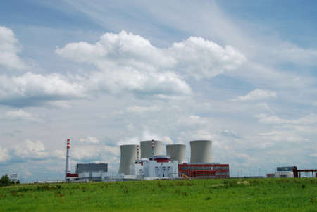 Nuclear power plant towers, a symbol of energy solution? photo