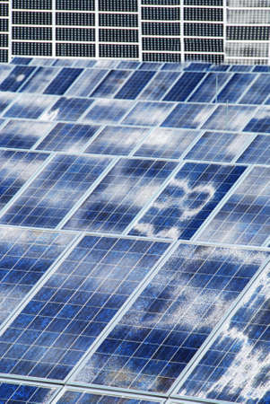 Photovoltaic panel background should be a way to ecologicval energy Reklamní fotografie